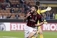esultanza gol Patrick Cutrone Milan Goal celebration 3-2 <br /> Milano 28-09-2017 Stadio Giuseppe Meazza Football Europa League 2017/2018 Group D Milan - Rijeka Foto Image/Insidefoto