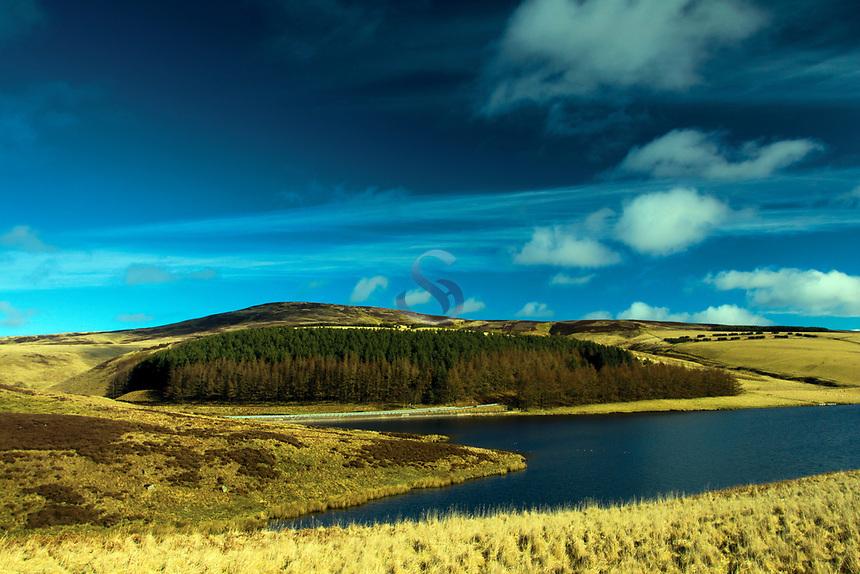 Spartleton and Whiteadder Reservoir from The Herring Road, the Lammermuir Hills, East Lothian