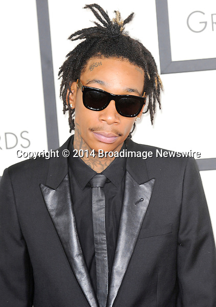 Pictured: Wiz Khalifa<br /> Mandatory Credit &copy; Adhemar Sburlati/Broadimage<br /> The Grammy Awards  2014 - Arrivals<br /> <br /> 1/26/14, Los Angeles, California, United States of America<br /> <br /> Broadimage Newswire<br /> Los Angeles 1+  (310) 301-1027<br /> New York      1+  (646) 827-9134<br /> sales@broadimage.com<br /> http://www.broadimage.com