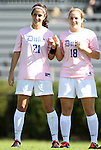 23 October 2011: Duke's Gilda Doria (21) and Maddy Haller (18). The Duke University Blue Devils defeated the University of Maryland Terrapins 3-1 at Koskinen Stadium in Durham, North Carolina in an NCAA Division I Women's Soccer game.