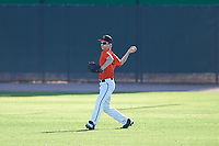 Gage Updegrove (49), from Port Orchard, Washington, while playing for the Orioles during the Under Armour Baseball Factory Recruiting Classic at Gene Autry Park on December 30, 2017 in Mesa, Arizona. (Zachary Lucy/Four Seam Images)