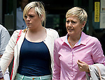 Nicola Furlong'ssister, Andrea and mother Angela leave the Tokyo Family Court in Tokyo, Japan on 27 July, 2012. Photographer: Robert Gilhooly