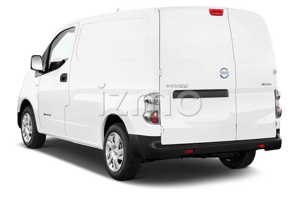 Car pictures of rear three quarter view of a 2015 Nissan NV200 Optima 4 Door Cargo Van 2WD Angular Rear