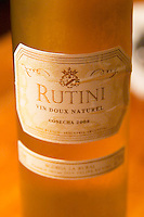 Bottle of Rutini Vin Doux Naturel sweet white wine 2003, Bodega La Rural, Maipu, Mendoza The Rosa Negra Restaurant, The Black Rose, Buenos Aires Argentina, South America San Felipe, La Rural Vinedos y Bodegas Winery
