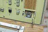 Atomraketen Kontrollpult Stelle für den Zünschlüssel / Missile launch control panel. Launch keyhole.