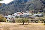 Landscape and small village of Lucainea de las Torres, in Sierra Alhamilla mountains, near Nijar, Almeria, Spain