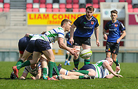 Monday 22nd April 2019 | 2019 McCrea Cup Final<br /> <br /> Allen McCluggage during the McCrea Cup final between Queens 2s and Grosvenor at Kingspan Stadium, Ravenhill Park, Belfast. Northern Ireland. Photo John Dickson/Dicksondigital
