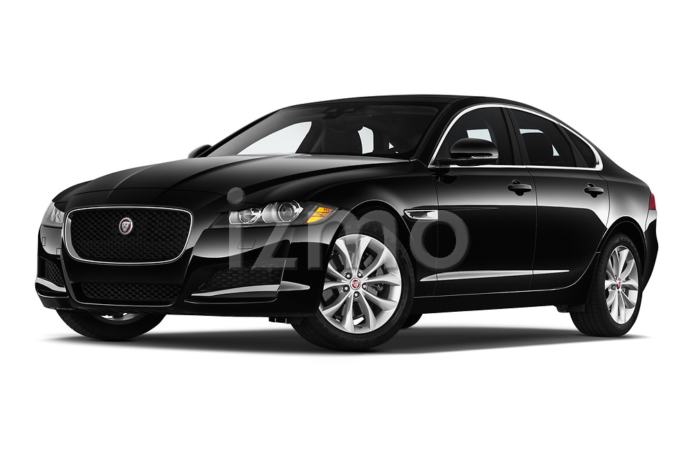 Stock pictures of low aggressive front three quarter view of a 2020 Jaguar XF Premium 4 Door Sedan
