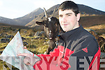 """Nathan Kingerlee, Outdoors Ireland, pictured with one of his companions """"Bobby"""" the goat who will accompany him on his walk of the Blackwater Way starting on Monday next in Shrone Rathmore.."""