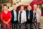 Retirement party : Carina Prendiville, Tommy Barrett, Marian Horgan, Jim Vaughan & Maudie Fitzmaurice, teachers at Colaiste Ide & Iosef, Abbeyfeale celebrating their retirement at a party at the Listowel Arms Hotel on Friday night last.