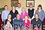Maureen and George Fahy Clonkeen Killarney celebrate their 50th wedding anniversary in the Killarney Heights Hotel on Saturday front row l-r: Miriam, Marie Griffin, Maureen, George, Denise Fahy. Back row: John Griffin, Geraldine O'Leary, Cieran Collins Hannie Fahy, Kevin O'Leary and Kathleen McGlynn   Copyright Kerry's Eye 2008