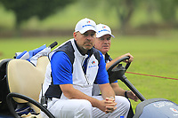 Thomas Bjorn (Captain Team Europe) on the 8th during the Friday Foursomes of the Eurasia Cup at Glenmarie Golf and Country Club on the 12th January 2018.<br /> Picture:  Thos Caffrey / www.golffile.ie