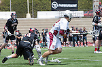 Torrance, CA 05/11/13 - Josh Davis (St Margarets #12) and Ollis Levitt (Harvard Westlake #14) in action during the Harvard Westlake vs St Margarets 2013 Los Angeles / Orange County Championship game.  St Margaret defeated Harvard Westlake 15-8.