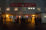 Wrexham 1 Brighton & Hove Albion 1, 18/01/2012. Racecourse Ground, FA Cup 3rd Round Replay. Home fans waiting for the turnstiles to open outside the Racecourse Ground, Wrexham hosted Brighton and Hove Albion in an FA Cup third round replay, played following the teams one-all draw in the first match. The replay was won by Brighton, 5-4 on penalty kicks after the match had ended in a one-all draw after extra time, watch by a crowd of 8316. The visitors played in the Championship, three leagues above their rivals from Wales, who were top of the Conference at the time of the match. Photo by Colin McPherson.