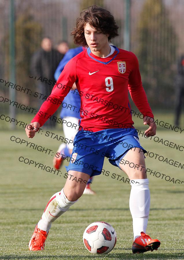 Fudbal  Reprezentacija Srbije<br /> Prijateljski mec Friendly match<br /> Srbija U17 v Croatia U17 <br /> Luka Jovic<br /> Beograd, 11.12.2013.<br /> foto: Srdjan Stevanovic/Starsportphoto &copy;