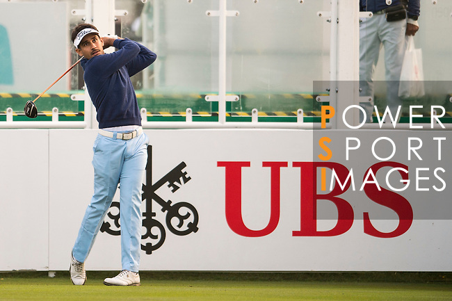 Himmat Rai of India tees off the first hole during the 58th UBS Hong Kong Open as part of the European Tour on 08 December 2016, at the Hong Kong Golf Club, Fanling, Hong Kong, China. Photo by Marcio Rodrigo Machado / Power Sport Images