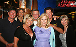 Guiding Light's Frank Dicopoulos, Grant Aleksander, Ron Raines, Michael O'Leary, Kim Zimmer, Tina Sloan and Grant's wife Sherry - Day 5 -  August 4, 2010 on the Lido Deck - So Long Springfield at Sea - A Final Farewell Cocktail Party for Guiding Light sets sail from NYC to St. John, New Brunwsick and Halifax, Nova Scotia from July 31 to August 5, 2010  aboard Carnival's Glory (Photos by Sue Coflin/Max Photos)