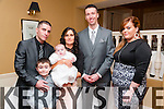 Baby Sophie Casey with her parents Catherine O'Sullivan & Tim Casey, Listowel & god parents Patrick O'Sullivan & Samantha Leen & brother David who was christened at St. Mary's Church, Listowel by Canon Declan O'Connor on Saturday last and afterwards at the Listowel Arms Hotel.