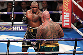 24th March 2018, O2 Arena, London, England; Matchroom Boxing, WBC Silver Heavyweight Title, Dillian Whyte versus Lucas Browne; Dillian Whyte attacks Lucas Browne against the ropes