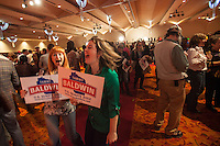 Supporters for U.S. Senate candidate Tammy Baldwin (D-WI) gather at her victory party in Madison, Wisconsin November 6, 2012. REUTERS/Sara Stathas (UNITED STATES)