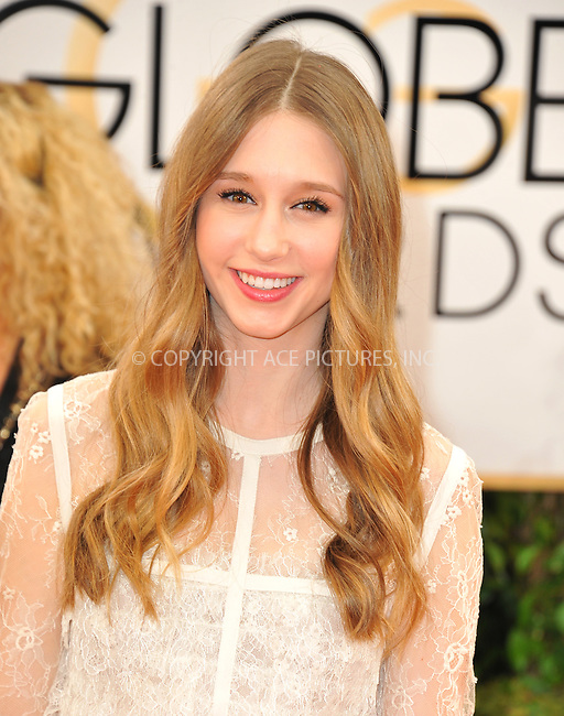 WWW.ACEPIXS.COM<br /> <br /> Janaury 12 2014, LA<br /> <br /> Actress Taissa Farmiga arriving at the 71st Annual Golden Globe Awards held at The Beverly Hilton Hotel on January 12, 2014 in Beverly Hills, California.<br /> <br /> By Line: Peter West/ACE Pictures<br /> <br /> <br /> ACE Pictures, Inc.<br /> tel: 646 769 0430<br /> Email: info@acepixs.com<br /> www.acepixs.com