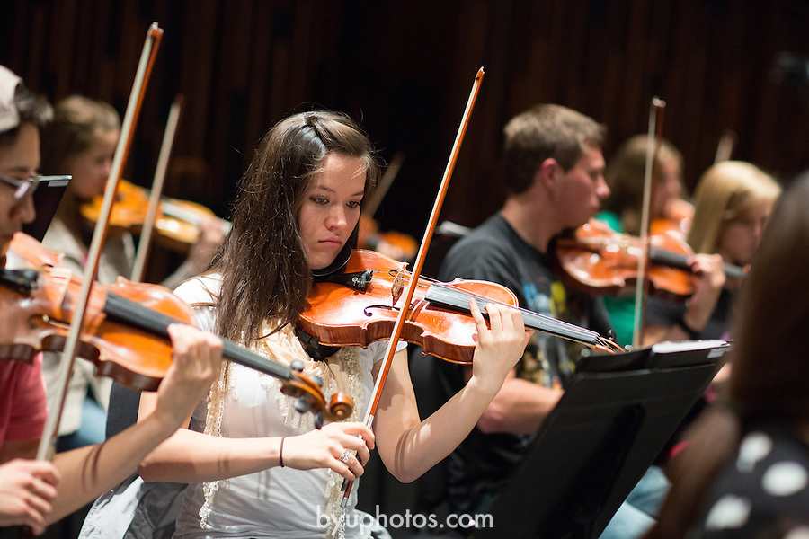 1309-67 067<br /> <br /> 1309-67 Music - Philharmonic Orchestra Rehearsal. De Jong Stage.<br /> <br /> Instruments<br /> Class<br /> <br /> September 30, 2013<br /> <br /> Photo by Bella Torgerson/BYU<br /> <br /> © BYU PHOTO 2013<br /> All Rights Reserved<br /> photo@byu.edu  (801)422-7322