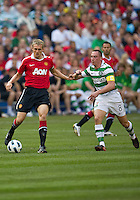 July 16, 2010 Darren Fletcher No. 24 of Manchester United during an international friendly between Manchester United and Celtic FC at the Rogers Centre in Toronto.