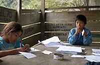 Messico, Chiapas, Gennaio 2008<br /> Comunit&agrave; indigena La Realidad <br /> indigenous community