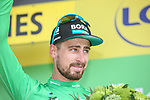 Peter Sagan (SVK) Bora-Hansgrohe retains the points Green Jersey at the end of Stage 16 of the 2019 Tour de France running 177km from Nimes to Nimes, France. 23rd July 2019.<br /> Picture: Colin Flockton | Cyclefile<br /> All photos usage must carry mandatory copyright credit (© Cyclefile | Colin Flockton)