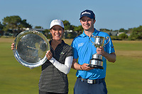 David Law (SCO) and Celine Boutier (FRA) winners of the VIC Open, 13th Beech, Barwon Heads, Victoria, Australia. 09/02/2019.<br />