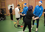 St Johnstone players took some festive cheer to Fairview School in Perth gving out selection boxes and gifts to the pupils&hellip; Zander Clark dancing with Holly a secondary school pupil<br />