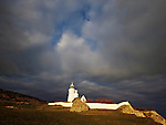 Evening light over St Catherines Lighthouse, Niton, Isle of Wight.