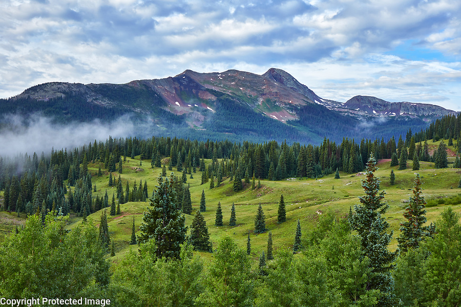 View of Snowden Peak from Molas Pass, located in the San Juan mountains of southwest Colorado
