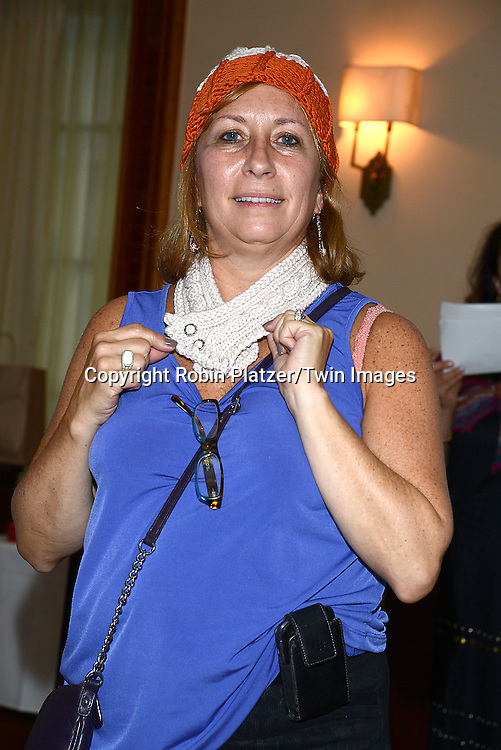 Arlene attends the Big Apple Knitters Guild Luncheon on September 20, 2014 at Maloney &amp; Porcelli in New York City. <br /> <br /> photo by Robin Platzer/Twin Images<br />  <br /> phone number 212-935-0770