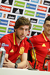 Sergi Roberto in press conference during Spanish national football team staff. March 21,2016. (ALTERPHOTOS/Acero)