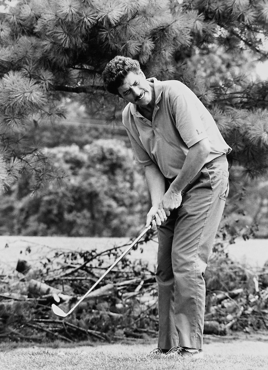 ANEC Golf Tournament, Rep. Bob Carr, D-Mich. on July 7, 1989. (Photo by CQ Roll Call)