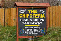 COPY BY TOM BEDFORD<br /> Pictured: The Chipoteria fish and chips shop in Hermon, Wales, UK. Wednesday 31 October 2018<br /> Re: A woman who died after suffering severe burns at the Chipoteria chip shop in Carmarthenshire, west Wales has been named as Mavis Bran, 69.<br /> She died at Morriston Hospital in Swansea, six days after the incident in Hermon, near Carmarthen on the 23rd October.<br /> A 70 year old man has been arrested by Dyfed-Powys Police and bailed while investigations are continuing.