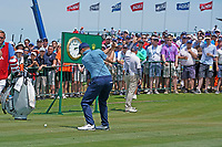 Matthew Fitzpatrick (ENG) tees off on the first hole during the third round of the 118th U.S. Open Championship at Shinnecock Hills Golf Club in Southampton, NY, USA. 16th June 2018.<br /> Picture: Golffile | Brian Spurlock<br /> <br /> <br /> All photo usage must carry mandatory copyright credit (&copy; Golffile | Brian Spurlock)