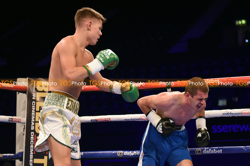 Charlie Edwards (white shorts) defeats Georgi Georgiev during a Boxing Show at the SSE Arena, Wembley on 26th November 2016
