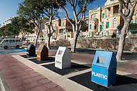 Malta, 28 December 2014<br /> <br /> The harbourfront of the Ta Xbiex and Gzira neighbourhoods opposite the old capital of Valetta.<br /> Also here recycling and separate garbage collection.<br /> <br /> Photo Kees Metselaar