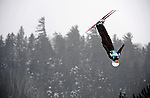16 January 2009: Anja Haab from Switzerland performs aerial acrobatics during the FIS Freestyle World Cup warm-ups at the Olympic Ski Jumping Facility in Lake Placid, NY, USA. Mandatory Photo Credit: Ed Wolfstein Photo. Contact: Ed Wolfstein, Burlington, Vermont, USA. Telephone 802-864-8334. e-mail: ed@wolfstein.net