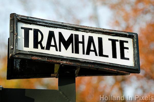 Nederland Arnhem 2015.  Tramhalte in het Nederlands Openluchtmuseum.  Foto Berlinda van Dam / Nederlandse Hoogte