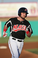 Preston Beck (5) of the High Desert Mavericks runs the bases during a game against the Inland Empire 66ers at Mavericks Stadium on May 6, 2015 in Adelanto, California. Inland Empire defeated High Desert, 10-4. (Larry Goren/Four Seam Images)