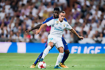 Lucas Vazquez (r) of Real Madrid competes for the ball with Samuel Umtiti of FC Barcelona during their Supercopa de Espana Final 2nd Leg match between Real Madrid and FC Barcelona at the Estadio Santiago Bernabeu on 16 August 2017 in Madrid, Spain. Photo by Diego Gonzalez Souto / Power Sport Images