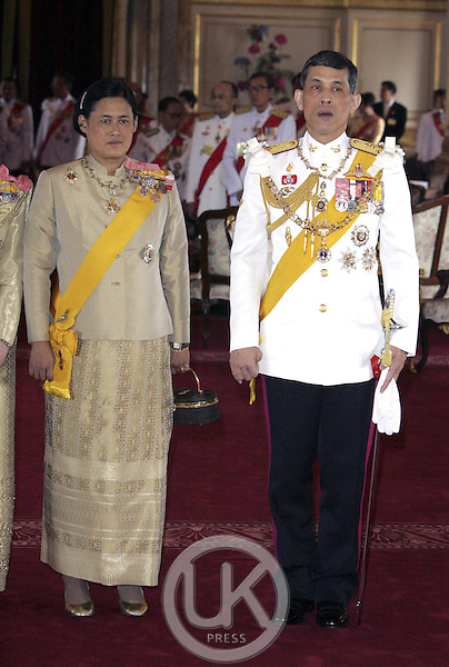 Princess Maha Chakri Sirindhorn, Crown Prince Maha Vajiralongkorn & foreign monarchs express their best wishes to His Majesty at the Anda Samakhom Throne Hall during the celebrations to mark the 60th anniversary of Thai King Bhumibol Adulyadej's accession to the throne..