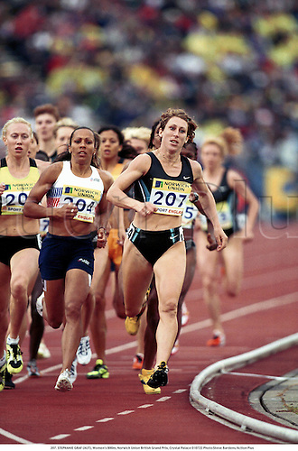 207. STEPHANIE GRAF (AUT), Women's 800m, Norwich Union British Grand Prix, Crystal Palace 010722 Photo:Steve Bardens/Action Plus...Athletics.2001.woman.track and field.female Steffi Stephie
