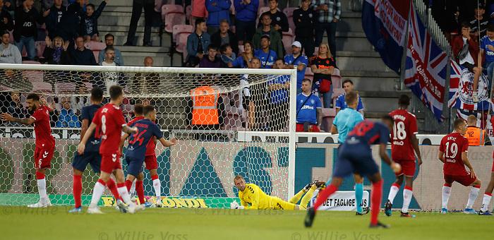 08.08.2019 FC Midtjylland v Rangers: FC Midtjylland score their second goal