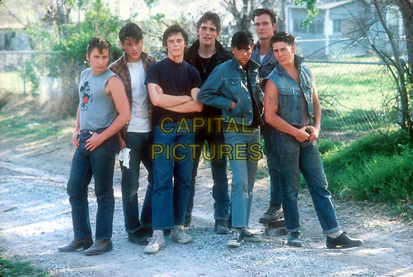 EMILIO ESTEVEZ, ROB LOWE, C THOMAS HOWELL, MATT DILLON, RALPH MACCHIO, PATRICK SWAYZE & TOM CRUISE.in The Outsiders.*Editorial Use Only*.Ref: FB.www.capitalpictures.com.sales@capitalpictures.com.Supplied by Capital Pictures.