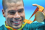 Daniel Dias (BRA), <br /> SEPTEMBER 12, 2016 - Swimming : <br /> Men's 50m Freestyle S5 Medal Ceremony <br /> at Olympic Aquatics Stadium<br /> during the Rio 2016 Paralympic Games in Rio de Janeiro, Brazil.<br /> (Photo by AFLO SPORT)