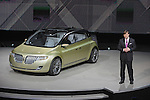 The Lincoln concept car is unveiled at the Detroit Auto Show on January 12, 2009.